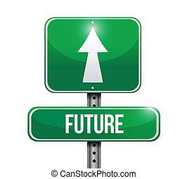 future signpost illustration design