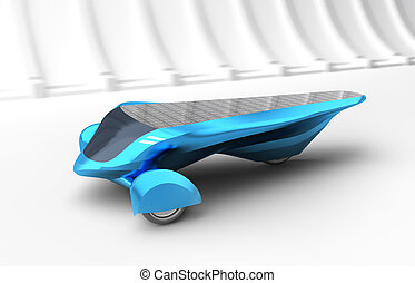 Future Solar Concept Car. 3D render. My own design.