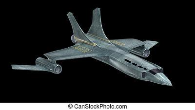 Future spaceship . 3D image . MY OWN DESIGN