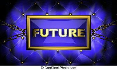 future  on velvet background
