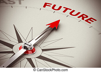 Future Vision - Realistic conceptual 3D render image with...