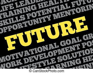 Future word cloud collage
