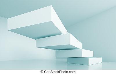 futurista, arquitectura, plano de fondo