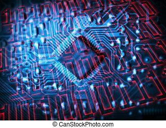 futurista, circuito integrado