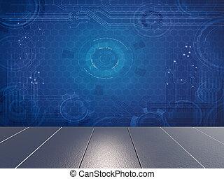 futurista, conceito abstrato, aquilo, fundo
