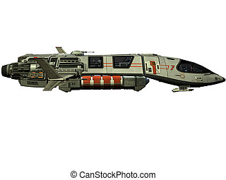 futurista, nave espacial