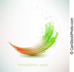futurista, onda, sinal