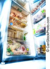 futurista, refrigerador