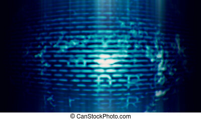 futurista, tecnología, pantalla, 10590