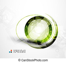 futuriste, cercle, résumé, fond
