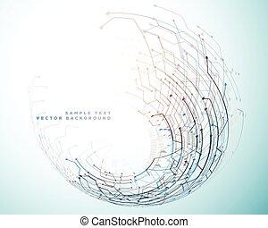 futuriste, concept, technologie, réseau, fond