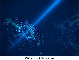 futuriste, cyberespace, elements., hud, résumé, illustration, fi, concept, arrière-plan., sci, technologie, vecteur
