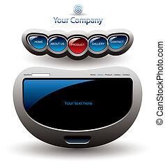 futuriste, editable, site web, interface