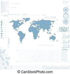 futuriste, graphique, interface utilisateur