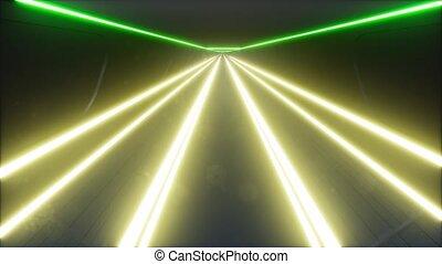 futuriste, lumière, jeu, conception, néon, 3d, psychédélique...