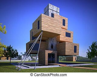 futuriste, maison