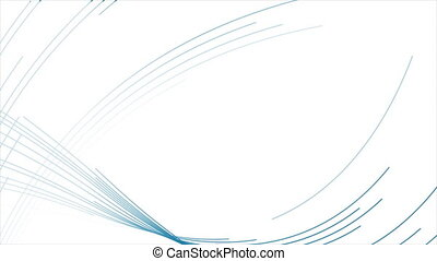 futuriste, mouvement, résumé, ondulé, fond, minimal, lignes, bleu, technologie