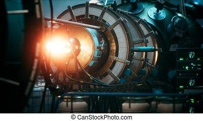 futuriste, puissance nucléaire, thermonuclear, ou, cyberpunk...