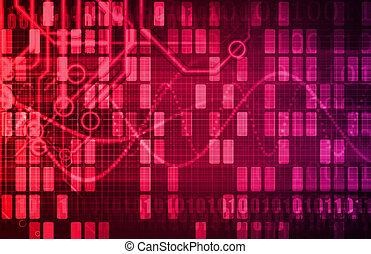futuriste, réseau, énergie, données, grille