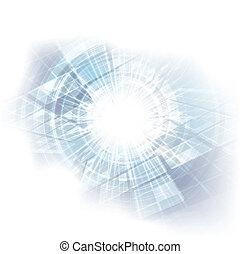 futuriste, résumé, arrière-plan bleu, vecteur