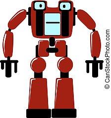 futuriste, robot jouet, fort