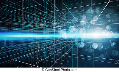 futuriste, technologique, résumé, fond