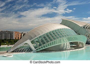 futuristic, épület