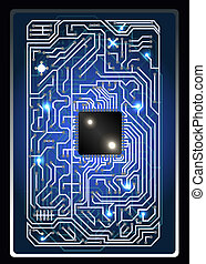 futuristic abstract background computer interface circuit board vector illustration