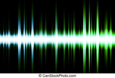 Futuristic Abstract Background as Audio Sound Flare