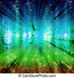 glowing music background - futuristic abstract glowing music...