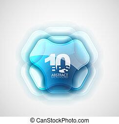 Futuristic abstract symbol