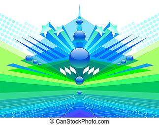 Futuristic abstract vector design