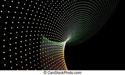 Futuristic animation, loop - Futuristic animation with...