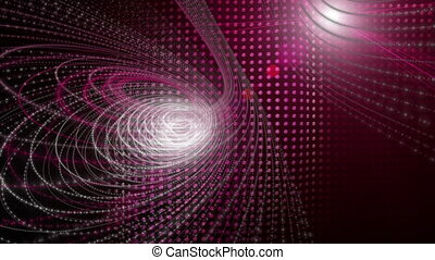 Futuristic animation with particle stripe object and light...
