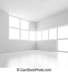Futuristic Architecture - 3d Illustration of White...