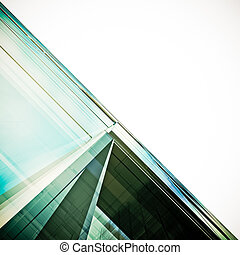 Futuristic architecture white isolated