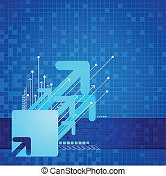 Futuristic Arrow Background