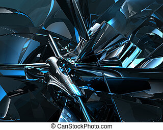 futuristic background - futuristic metal background - 3d...