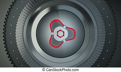 Futuristic Bank Vault Transition - 1080p rendition of a 3d...