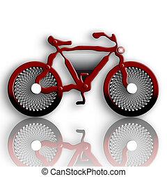 Futuristic Bike - Futuristic Red Bike over White Background...
