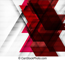 Futuristic blocks geometric abstract background
