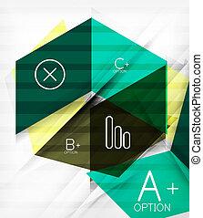 Futuristic blocks geometric abstract background