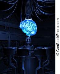 futuristic brain
