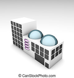 Futuristic Building Office as 3d Clip Art