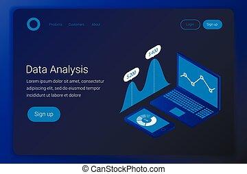 Futuristic business analytics concept.