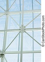 futuristic business center roof construction