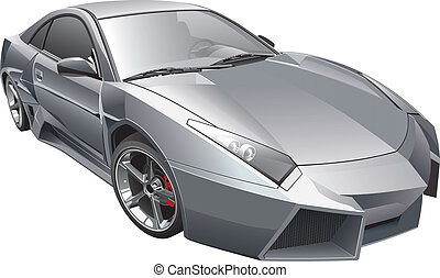 futuristic car - Detail vector image of futuristic custom ...