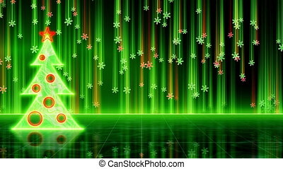 futuristic christmas tree loop