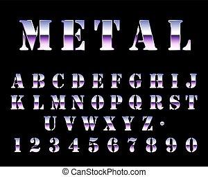 Futuristic Chrome Stencil Font