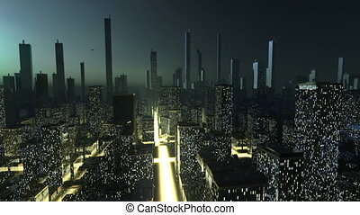 Futuristic city concept  - Futuristic city concept